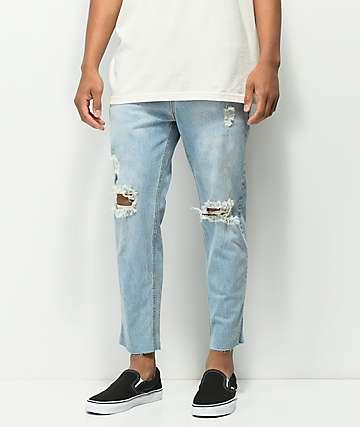 Rustic Dime jeans cortos con lavado azul claro