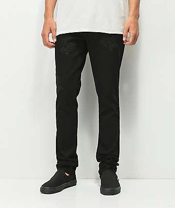 Rustic Dime jeans negros con bordados