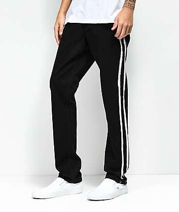 Rustic Dime jeans negros de rayas blancas