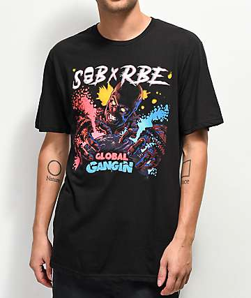 SOB x RBE Global Gangin Black T-Shirt