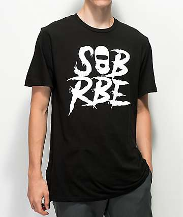 SOB x RBE Ski Mask Black & White T-Shirt