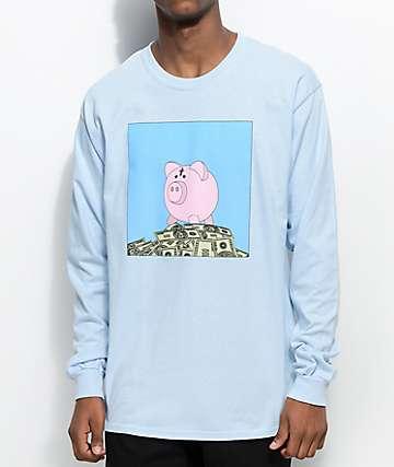 SOMEHOODLUM Bank Account Light Blue Long Sleeve T-Shirt