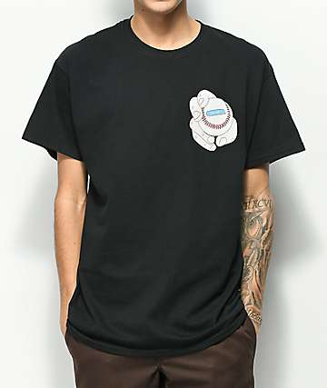 SOMEHOODLUM Curved Black T-Shirt