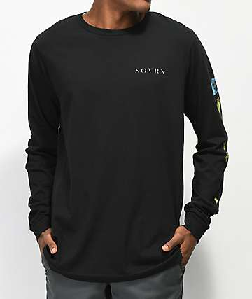 SOVRN Dimanche Black Long Sleeve T-Shirt