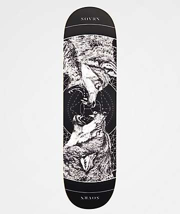 "SOVRN Geri & Freki Black 8.38"" Skateboard Deck"
