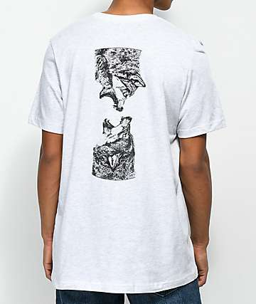 SOVRN Geri & Freki camiseta en gris claro