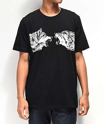 SOVRN Geri & Fleki camiseta negra