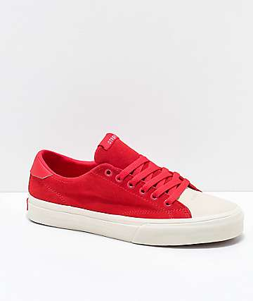 STRAYE Stanley Ben Baller Red Suede Skate Shoes