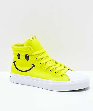 STRAYE Venice Smiley Safety zapatos de skate amarillos