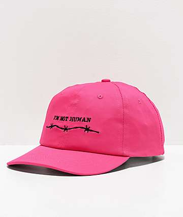 SWIXXZ Not Human Neon Pink Strapback Hat
