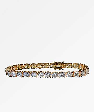Saint Midas 6mm Yellow Gold Tennis Bracelet