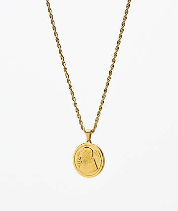 Saint Midas Gold Coin Pendant Necklace