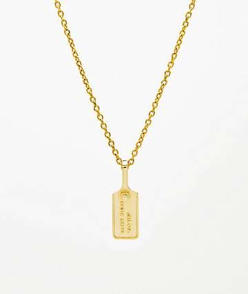 Saint Midas Zip Tie Pendant Yellow Gold Necklace