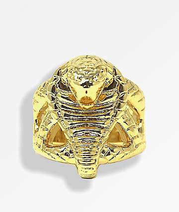 Saint Midas x Broken Promises Molded Cobra Head Gold Ring
