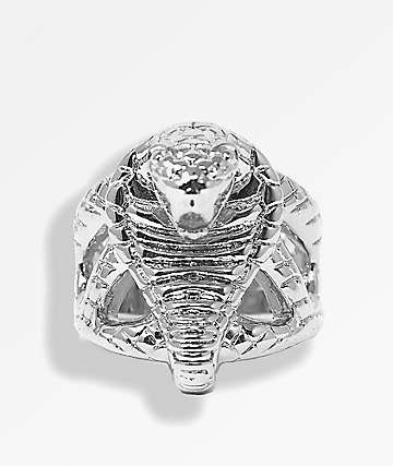 Saint Midas x Broken Promises Molded Cobra Head Silver Ring