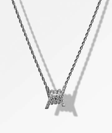 Saint Midas x Broken Promises Single Barbed Wire White Gold Necklace