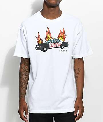 Salem7 Break The Law White T-Shirt