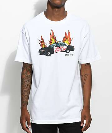 Salem7 Break The Law White T-Shirt