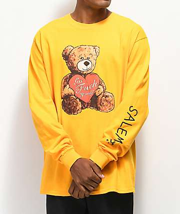 Salem7 Crappy Valentine camiseta de manga larga amarilla