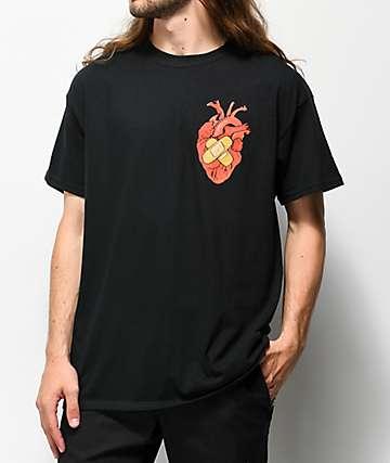 Salem7 Heart camiseta negra