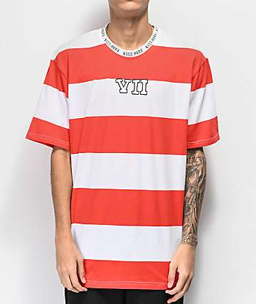 Salem7 VII Red & White Striped T-Shirt