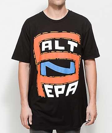 Salt N Pepa S-N-P Logo Black T-Shirt