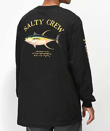 Salty Crew Ahi Mount camiseta de manga larga negra