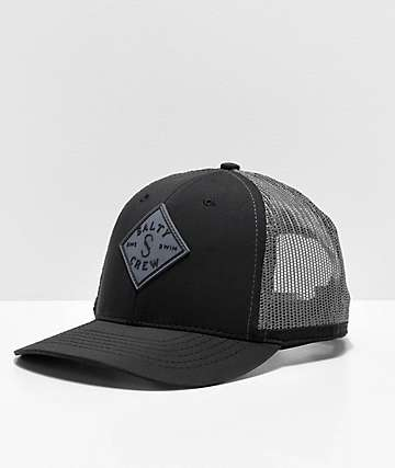 8c4b38d59c9 Salty Crew Aruba Custom Retro Black Trucker Hat
