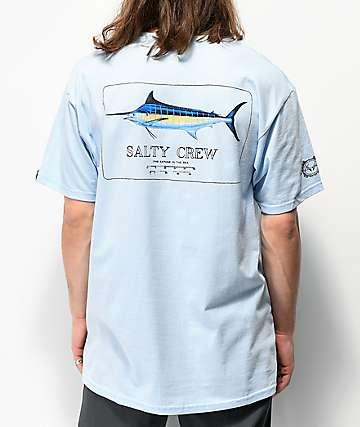 Salty Crew Blue Rogers Light Blue T-Shirt