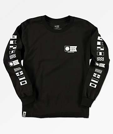 Salty Crew Boys Alpha Black Long Sleeve T-Shirt