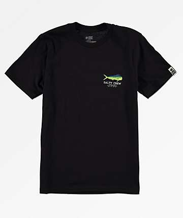 Salty Crew Boys Angry Bull Black & Green T-Shirt