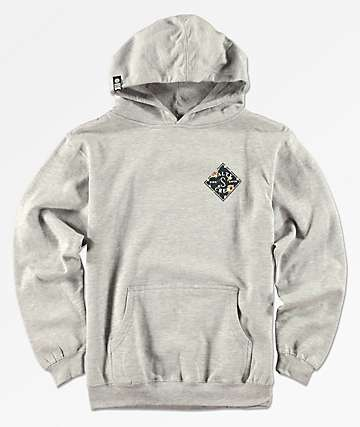 Salty Crew Boys Island Time Grey Hoodie
