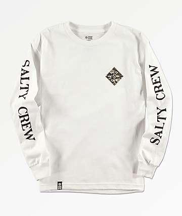 960b53447cde Salty Crew Boys Tippet Cover White Long Sleeve T-Shirt
