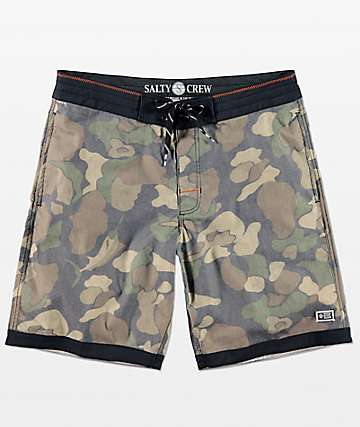 Salty Crew Breaker Camo & Orange Board Shorts