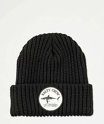 best value 28a66 8f568 Salty Crew Bruce Black Beanie