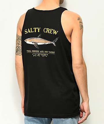 Salty Crew Bruce Black Tank Top