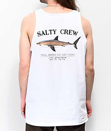 Salty Crew Bruce White Tank Top