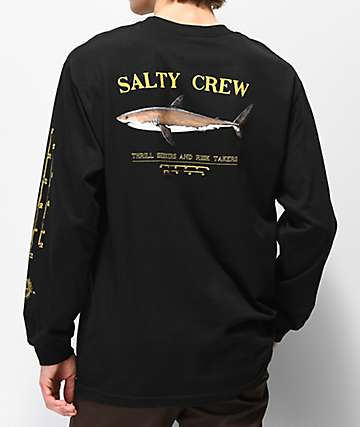 Salty Crew Bruce camiseta negra de manga larga