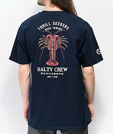 Salty Crew Buggin Out Navy Blue T-Shirt