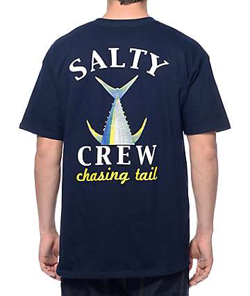 Salty Crew Chasing Tail Navy T-Shirt