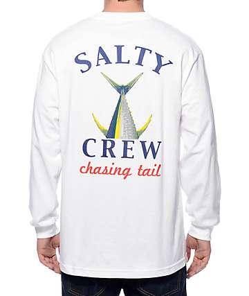 Salty Crew Chasing Tail camiseta blanca de manga larga