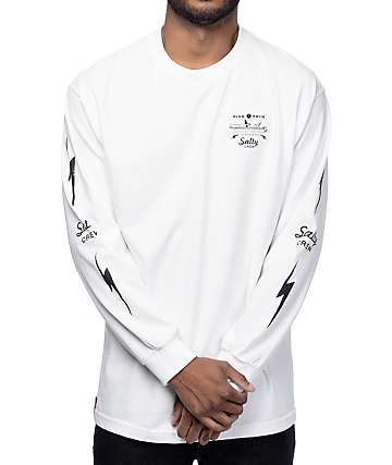 Salty Crew Dash camiseta blanca manga larga