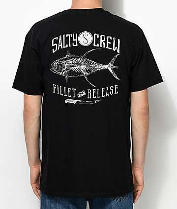Salty Crew Fillet & Release camiseta negra