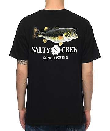 Salty Crew Green Bass camiseta negra