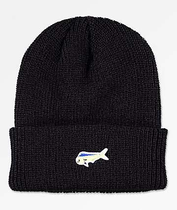 Salty Crew Happy Fish Black Beanie