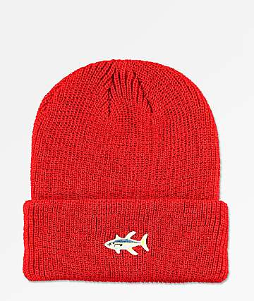 Salty Crew Happy Fish Red Beanie