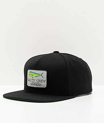 Salty Crew Mahi Mount Black Snapback Hat