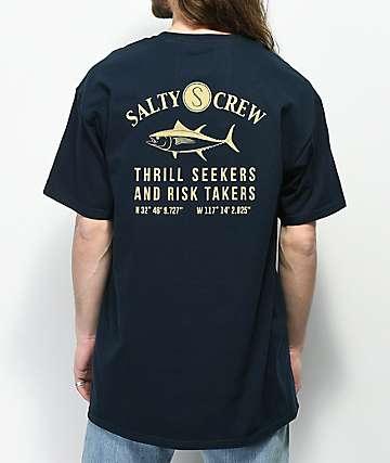 Salty Crew Markets camiseta en azul marino