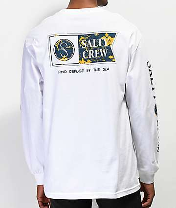 Salty Crew Navigator camiseta blanca de manga larga