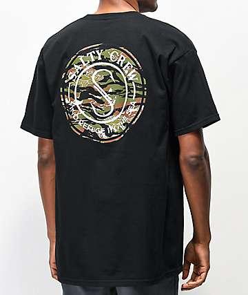 Salty Crew Palomar Triad Black T-Shirt